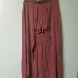 Maxi Skirt with Visible Short Shorts